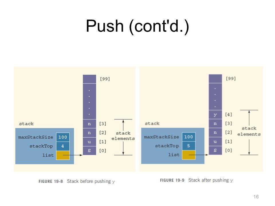Push (cont'd.) 16
