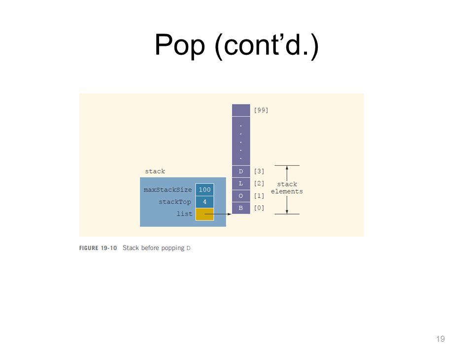 Pop (contd.) 19