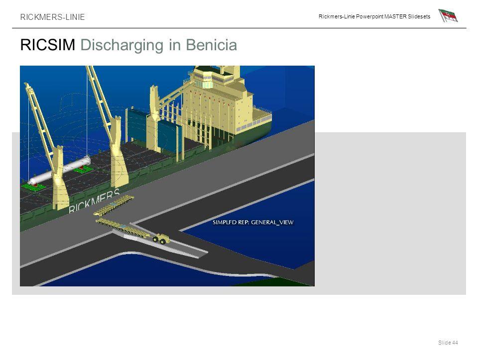 RICKMERS-LINIE Rickmers-Linie Powerpoint MASTER Slidesets Slide 44 RICSIM Discharging in Benicia