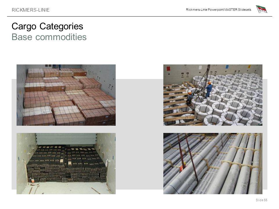 RICKMERS-LINIE Rickmers-Linie Powerpoint MASTER Slidesets Slide 55 Cargo Categories Base commodities