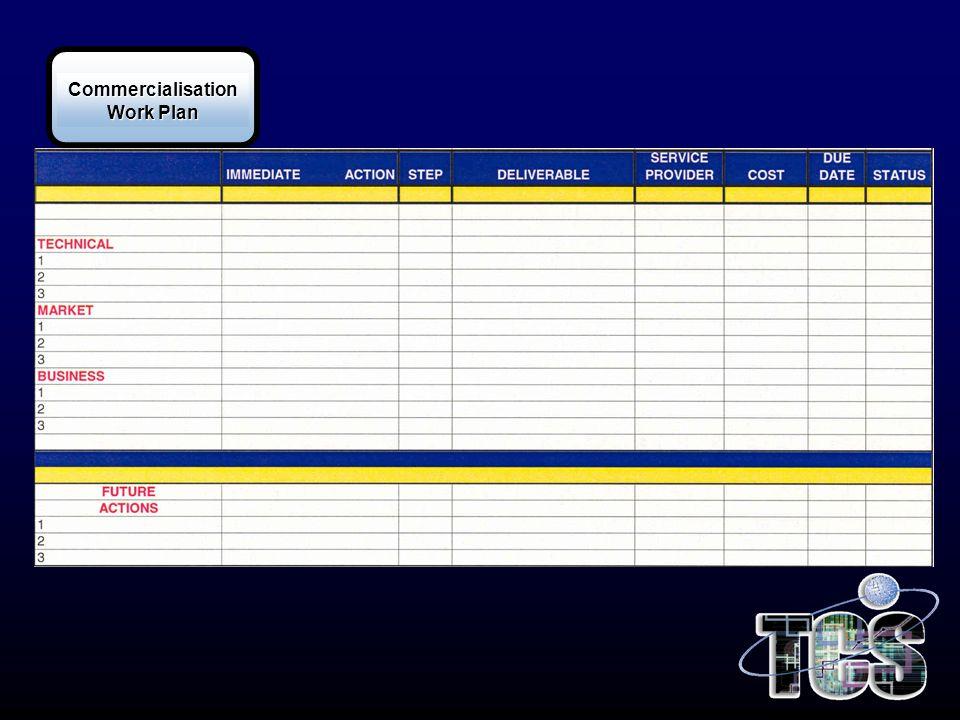 Commercialisation Work Plan