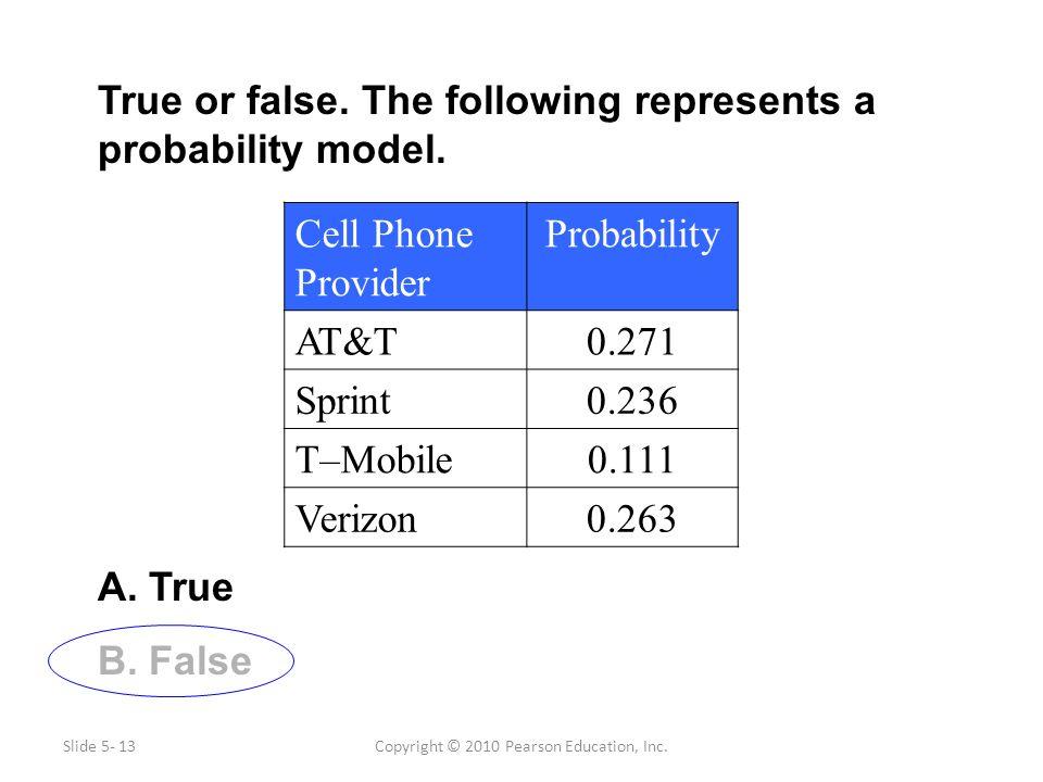 Copyright © 2010 Pearson Education, Inc.True or false.