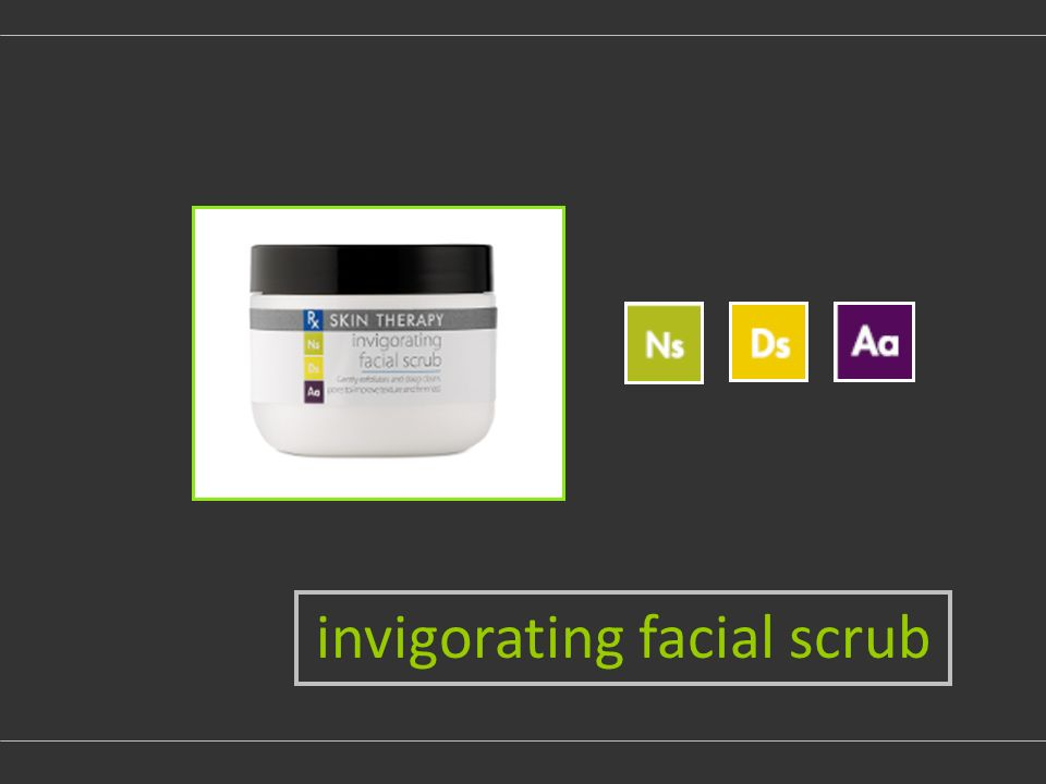 invigorating facial scrub