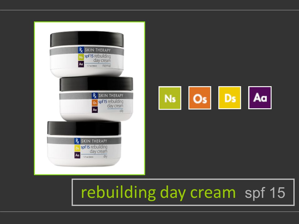 rebuilding day cream spf 15