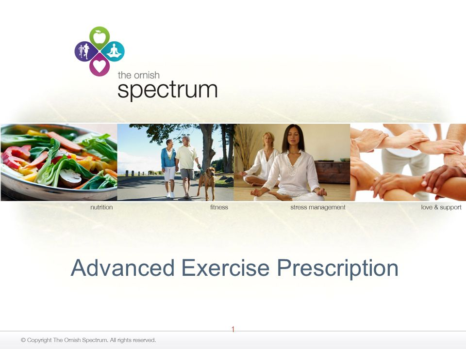 1 Advanced Exercise Prescription