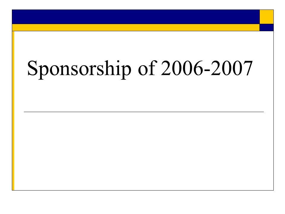 Sponsorship of 2006-2007