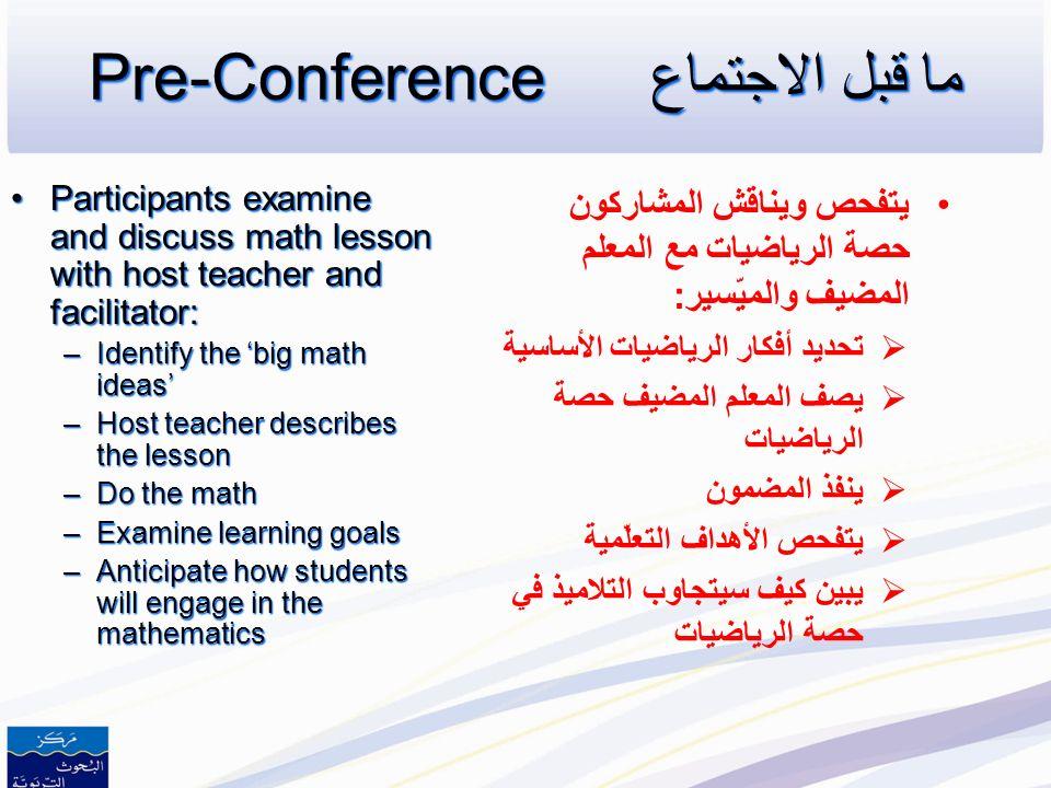 Three Components Pre-Conference: 45-60 minutes Pre-Conference: 45-60 minutes Demonstration Lesson: 60 minutes Demonstration Lesson: 60 minutes De-Brie