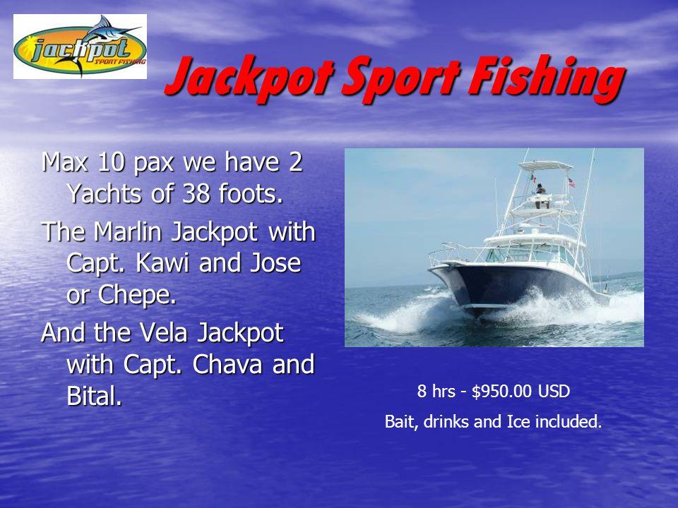 Jackpot Sport Fishing Jackpot Sport Fishing Let us know your doubts…… Marina las Palmas II Loc.