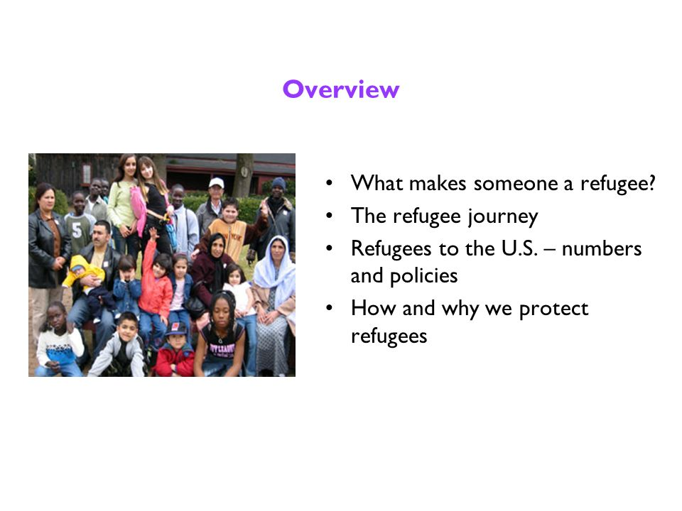 Refugees 101 The Advocates for Human Rights is pleased to involve your class or community group in a day to learn about refugees in the United States.