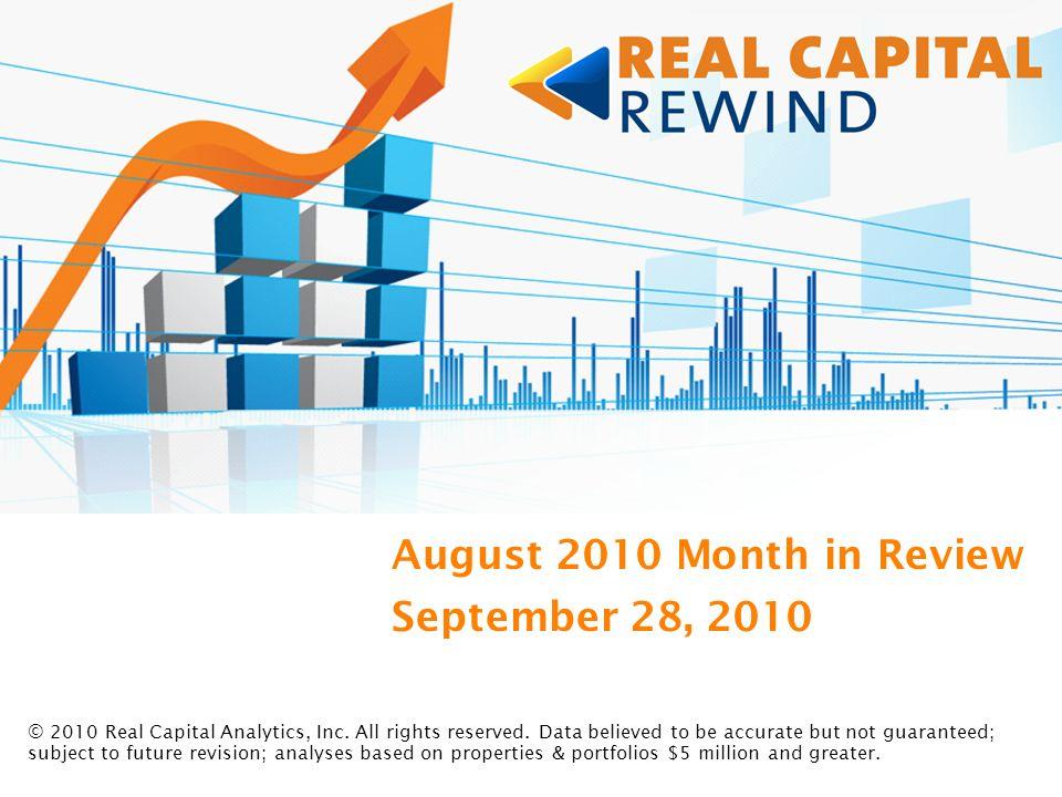 Real Capital Rewind Presenters Robert M.