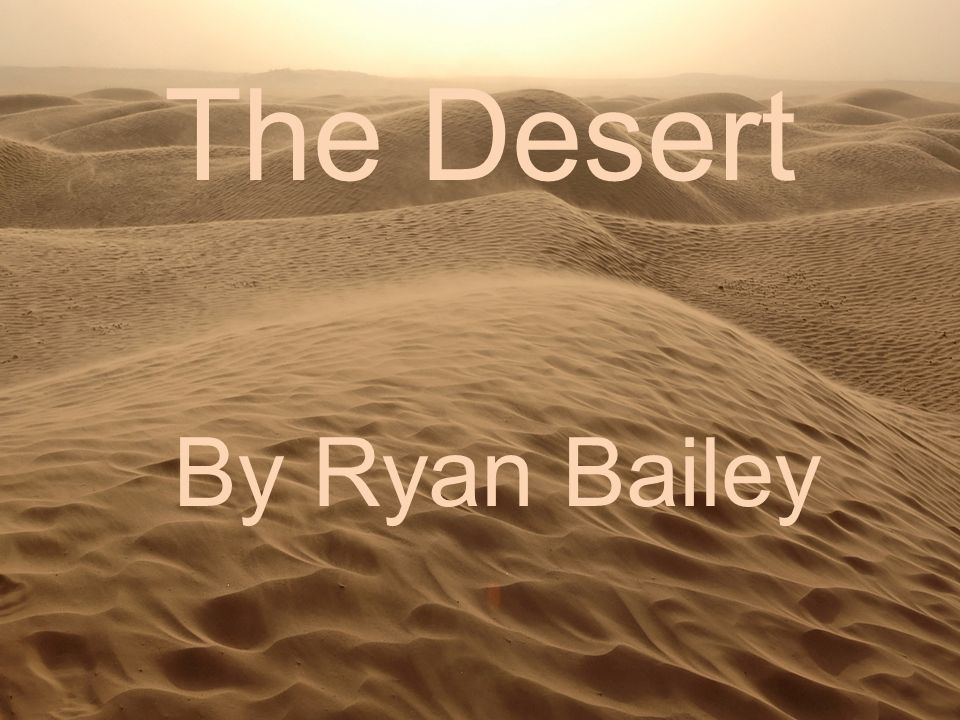 The Desert By Ryan Bailey