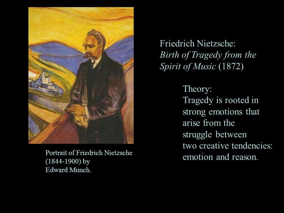 3 Portrait of Friedrich Nietzsche (1844-1900) by Edward Munch. Friedrich Nietzsche: Birth of Tragedy from the Spirit of Music (1872) Theory: Tragedy i