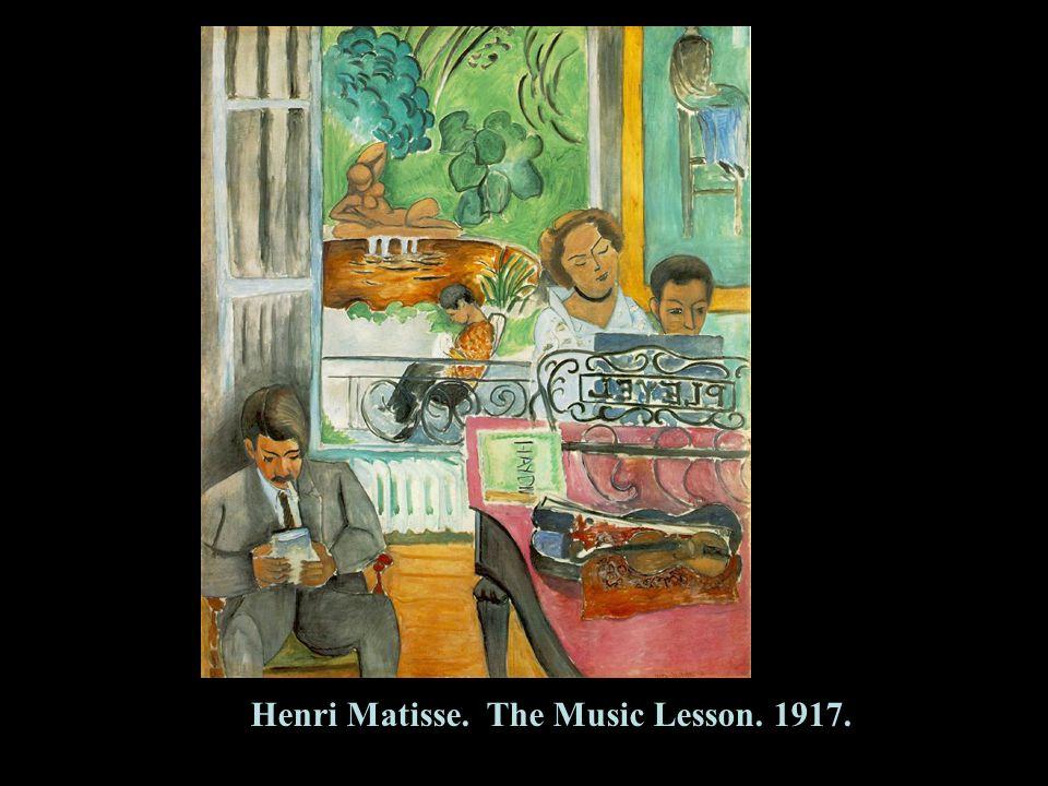38 Henri Matisse. The Music Lesson. 1917.