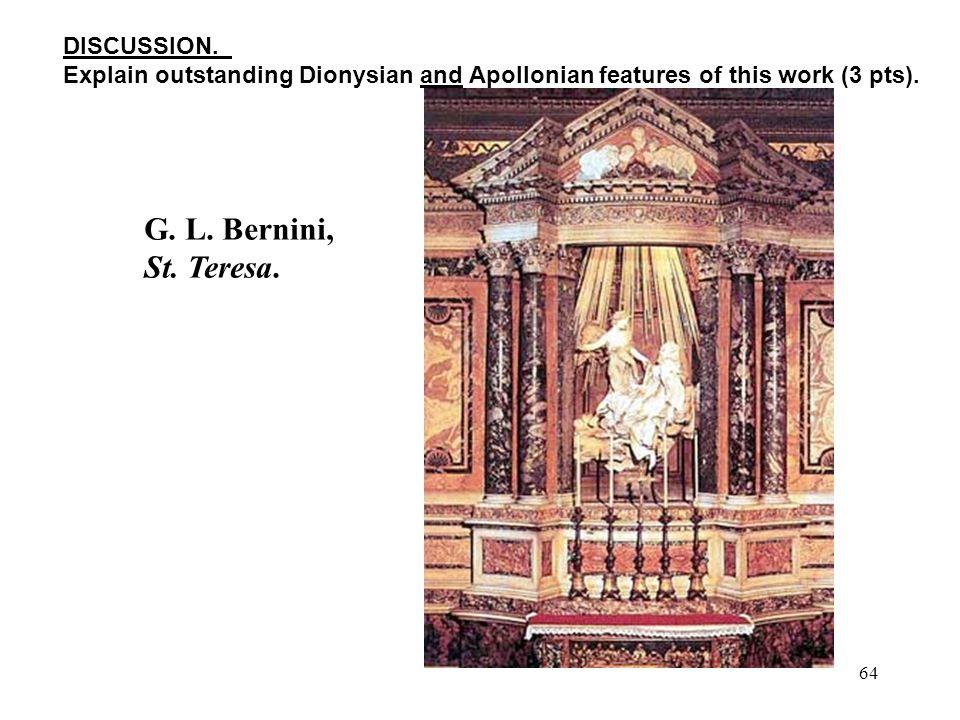 64 G. L. Bernini, St. Teresa. DISCUSSION.