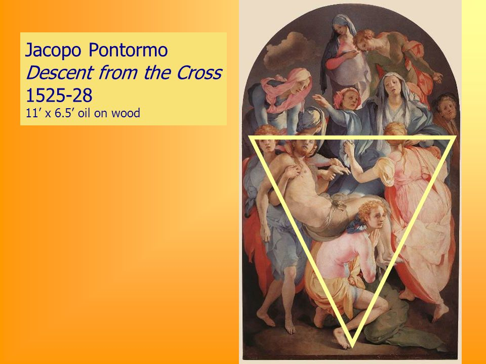 Jacopo Pontormo Descent from the Cross 1525-28 11 x 6.5 oil on wood