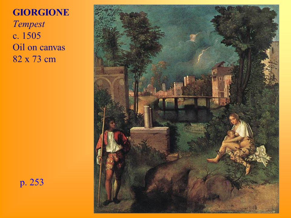 GIORGIONE Tempest c Oil on canvas 82 x 73 cm p. 253
