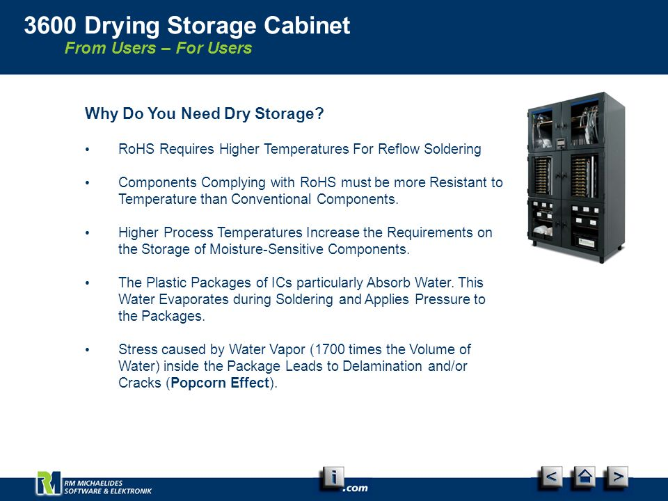 From Users – For Users 3600 Drying Storage Cabinet Why Do You Need Dry Storage.