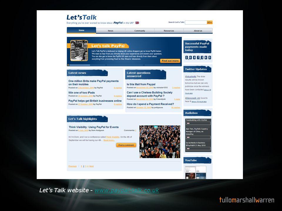 18 Lets Talk website - www.paypal-talk.co.ukwww.paypal-talk.co.uk