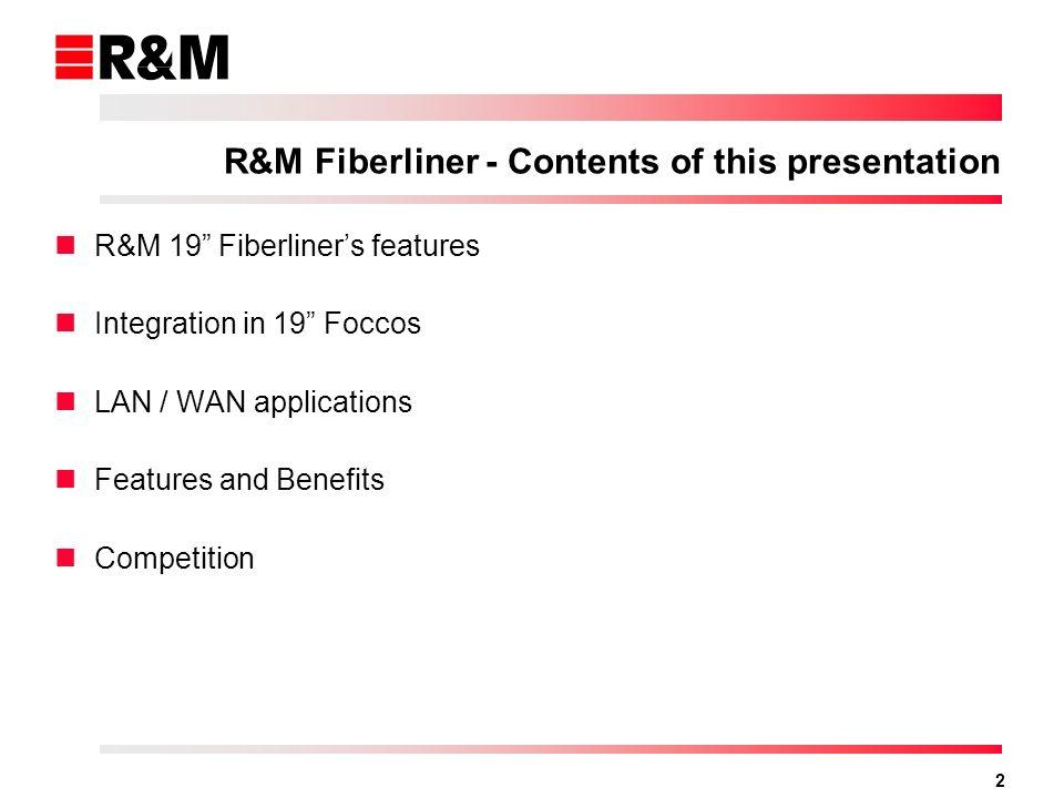 1 LAN / WAN applications R&M Fiberliner