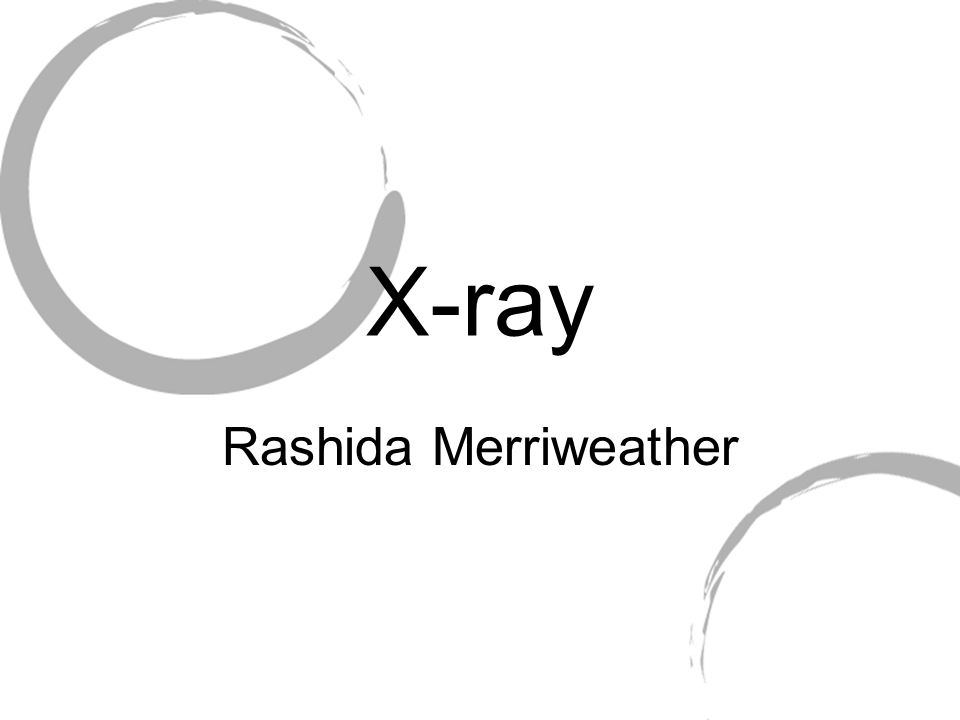 X-ray Rashida Merriweather