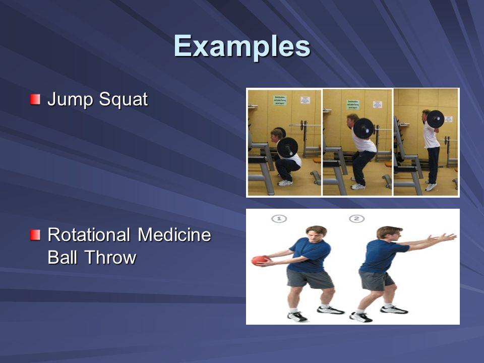 Examples Jump Squat Rotational Medicine Ball Throw
