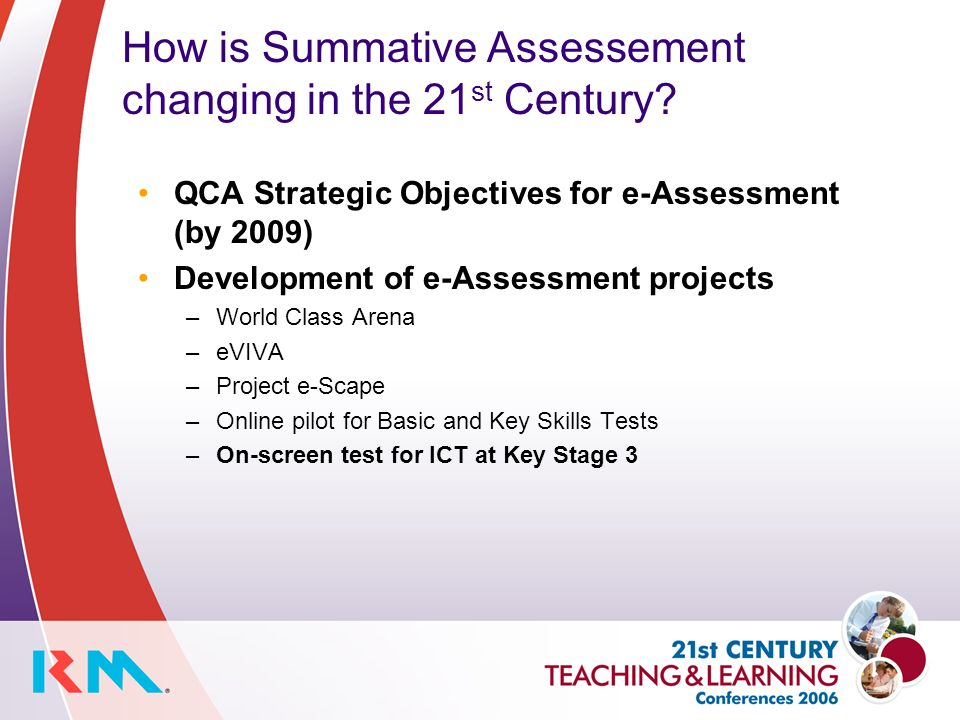 How is Summative Assessement changing in the 21 st Century.