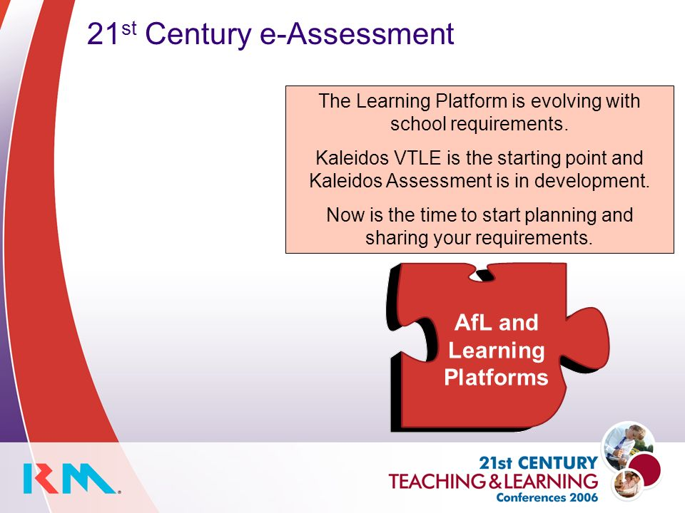 21 st Century e-Assessment The Learning Platform is evolving with school requirements.