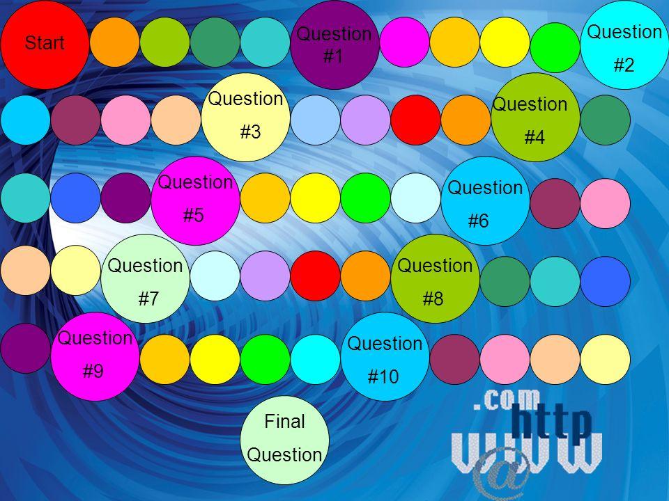 Question #1 Start Question #2 Question #3 Question #4 Question #5 Question #7 Question #6 Question #8 Question #9 Question #10 Final Question