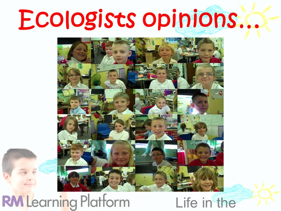 Life in the Clouds Ecologists opinions…