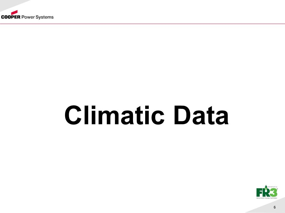 6 Climatic Data