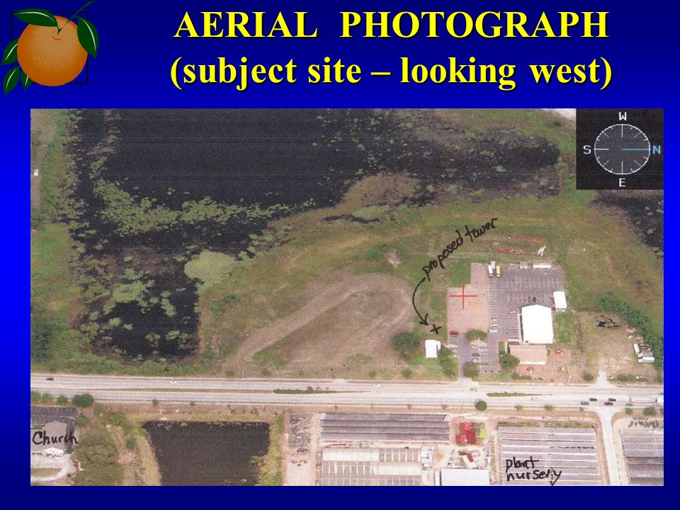 AERIAL PHOTOGRAPH (subject site – looking west)