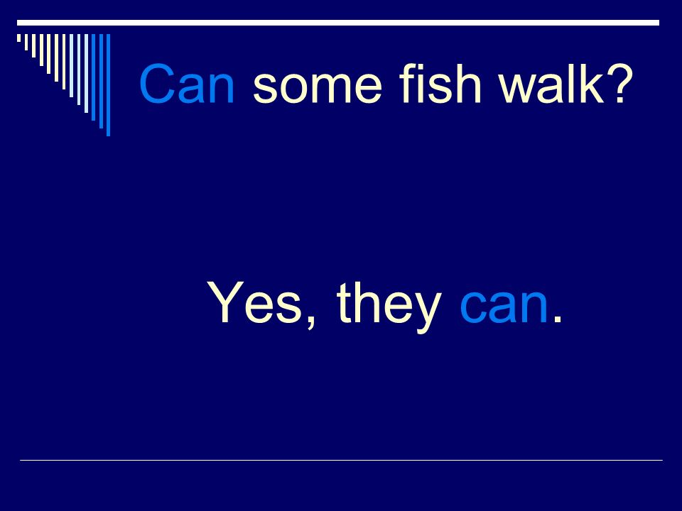 Can some fish walk Yes, they can.