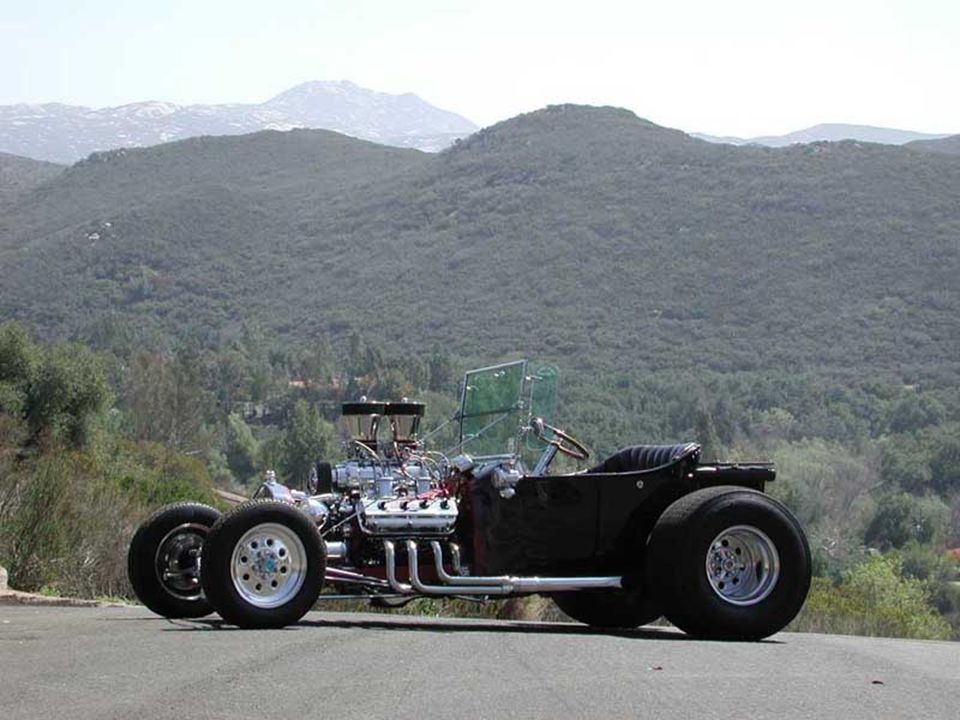 1923 Ford Bucket T Engine - 392 ci Hemi – 1957 Chrysler Imperial Wieand 671 Blower 2 X 600 cfm Holleys Donovan Valve Covers Sanderson Headers 305 HP at the Wheels 420 ft/lbs torque Transmission – TCI 350 B & M Shifter Running Gear -8.5 Ford Rear End with 411 Gears Dropped Tube Axel with Disc Brakes