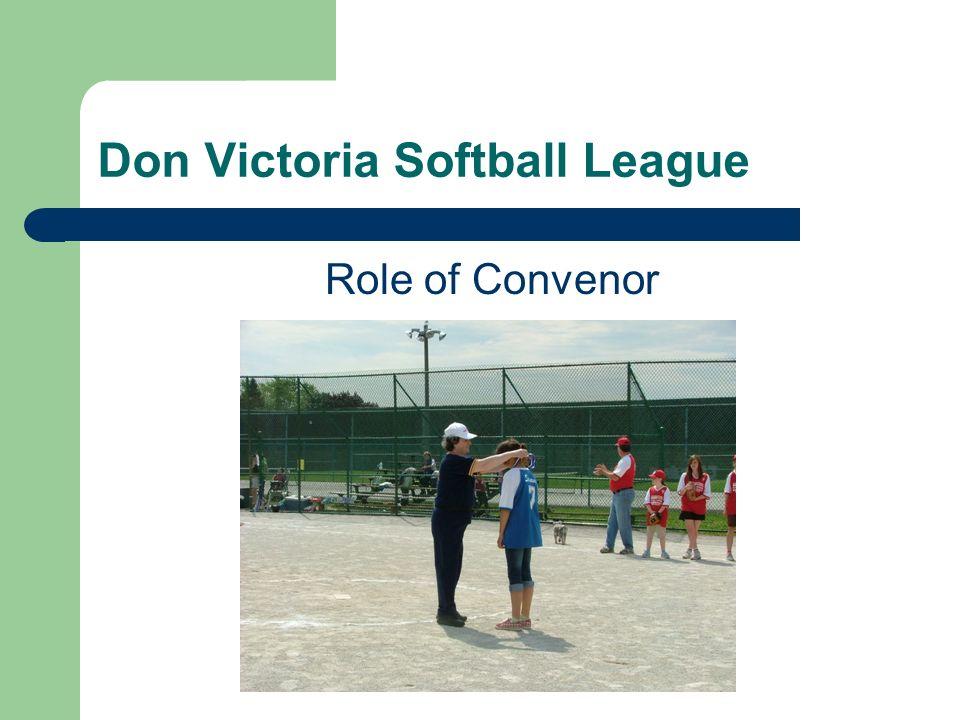 Don Victoria Softball League Role of Convenor