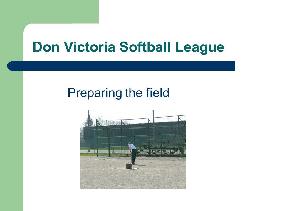 Don Victoria Softball League Preparing the field