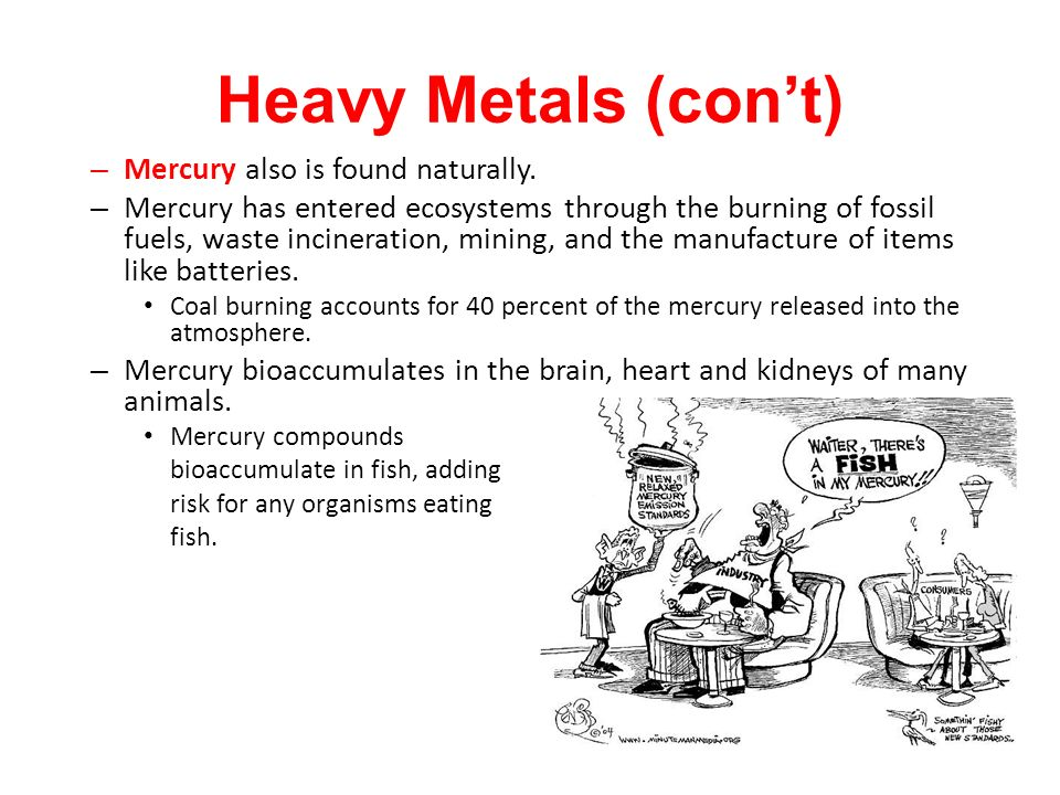 – Mercury also is found naturally.