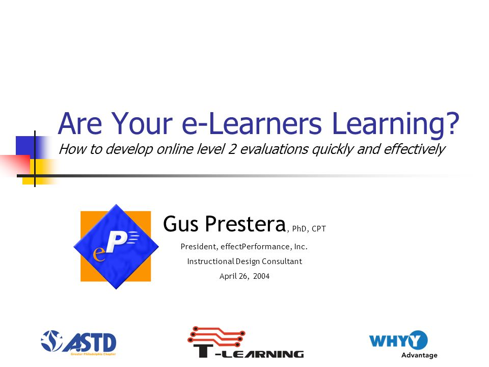 Are Your e-Learners Learning.