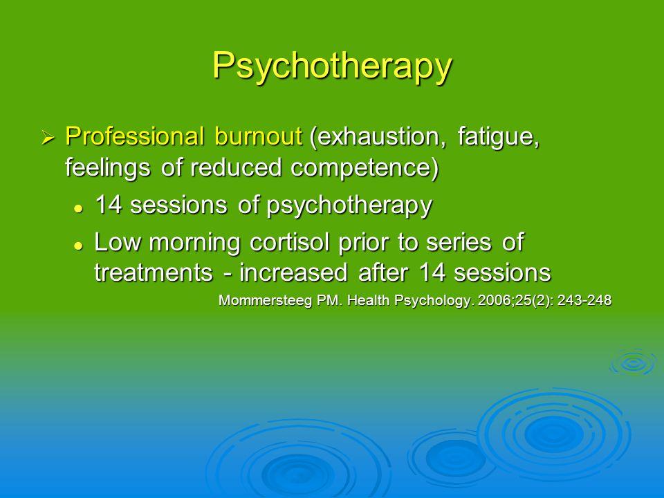 Professional burnout (exhaustion, fatigue, feelings of reduced competence) Professional burnout (exhaustion, fatigue, feelings of reduced competence)