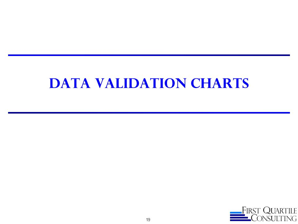 DATA VALIDATION CHARTS 19