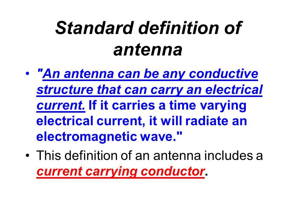 Standard definition of antenna