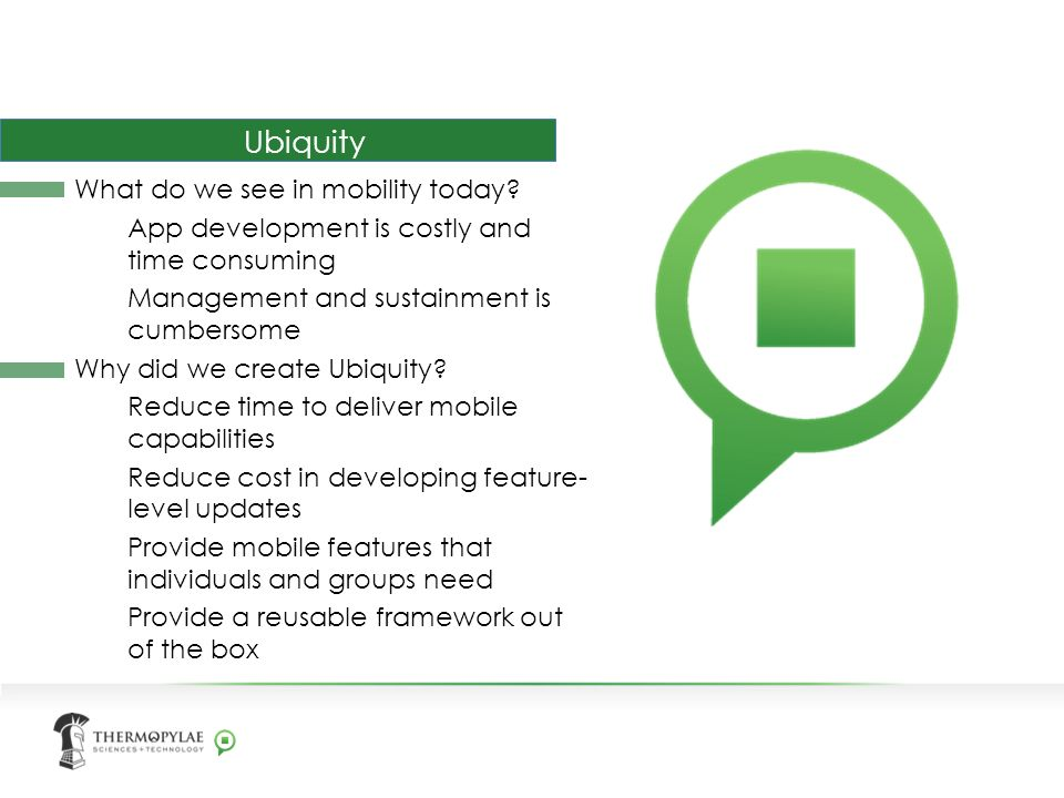 Ubiquity What do we see in mobility today.