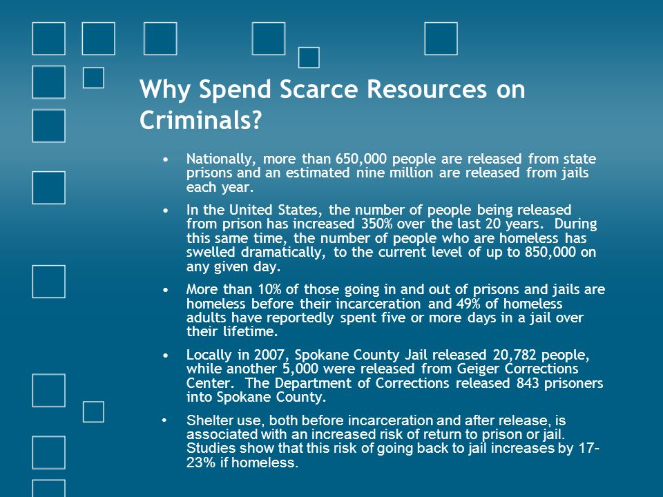 Why Spend Scarce Resources on Criminals.
