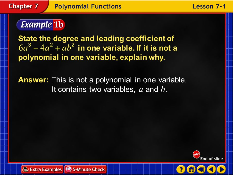 Example 6-3d Factor Write the depressed polynomial.