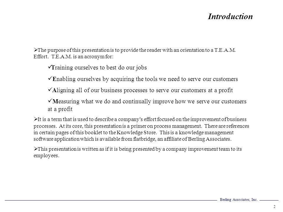 Berling Associates, Inc.73 The Details Of Process Measurements A.