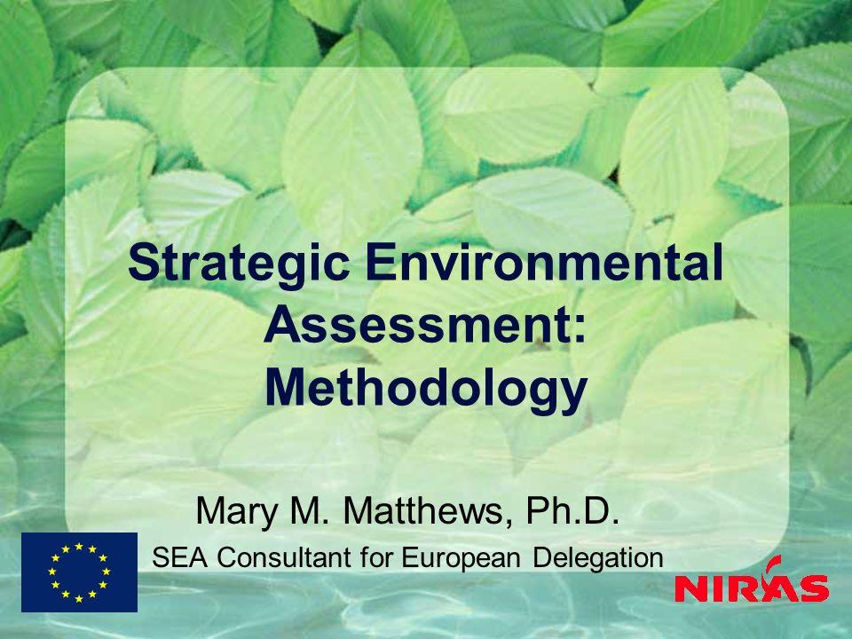 Strategic Environmental Assessment: Methodology Mary M.