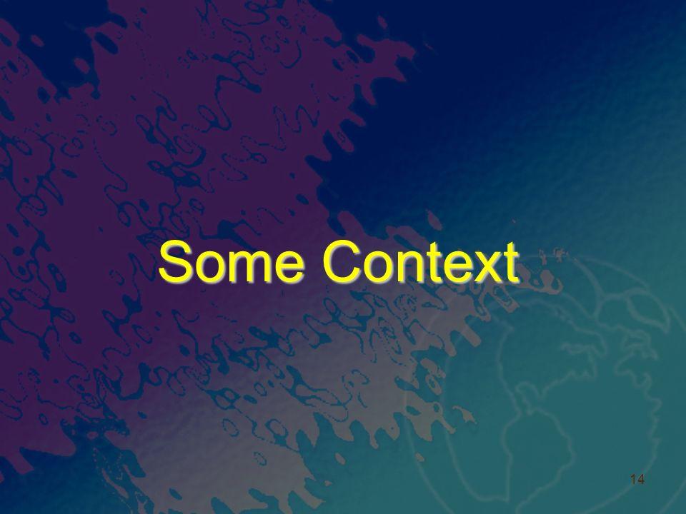 Some Context 14