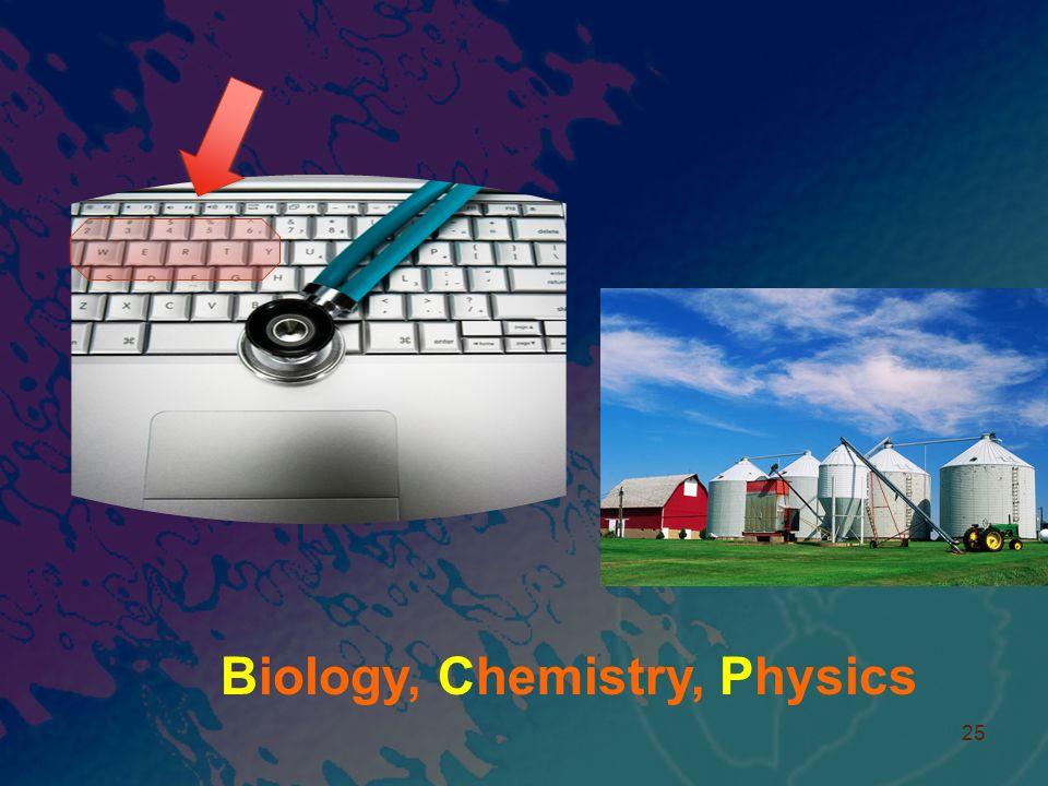 25 Biology, Chemistry, Physics