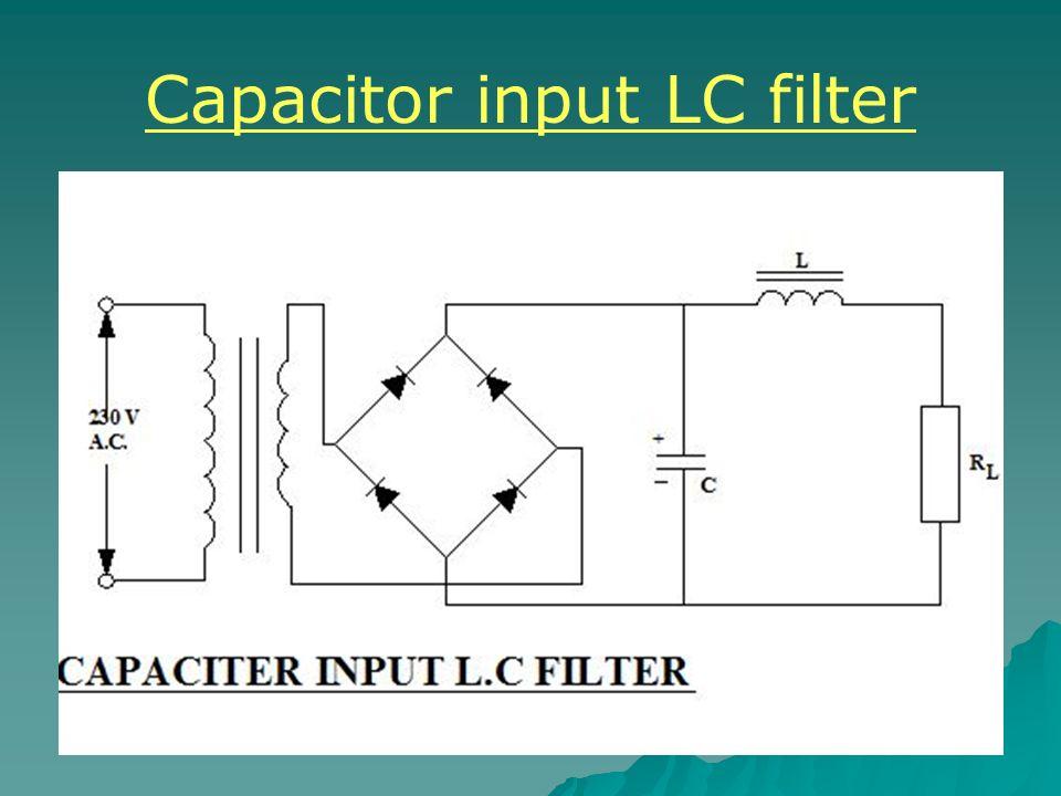 Capacitor input LC filter