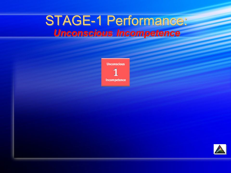 STAGE-1 Performance: Unconscious Incompetence