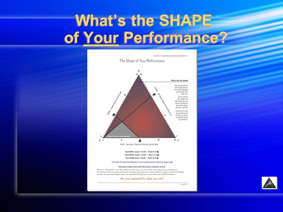 Whats the SHAPE of Your Performance